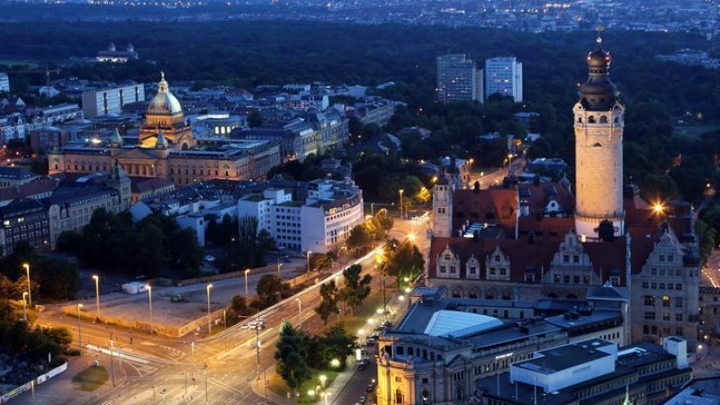 Bis zur Leipziger Innenstadt sind es etwa 3000 Meter.