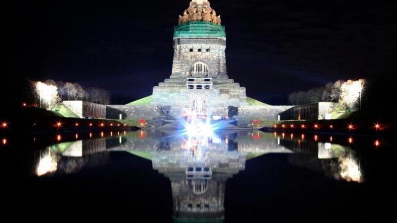 ... das weltberühmte Völkerschlachtdenkmal im Südosten von Leipzig