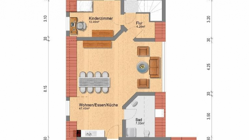 Dachgeschoss Haus Nr. 11